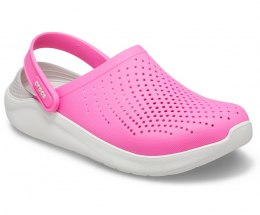 Crocs LITERIDE CLOG 6QV ELECTRIC PINK ALMOST WHITE